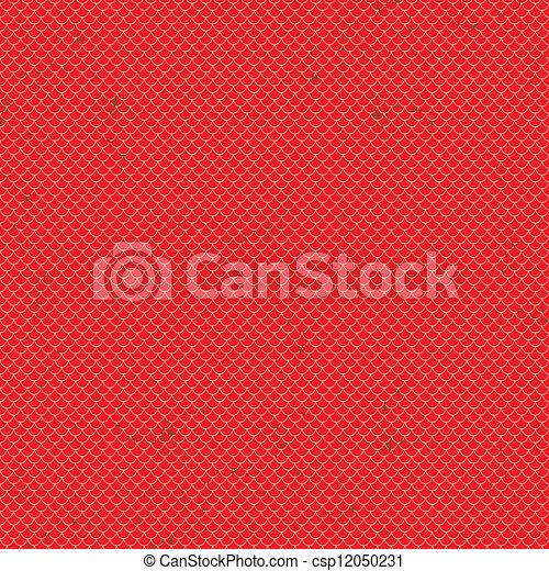 Seamless terracota roof tile vector pattern - csp12050231