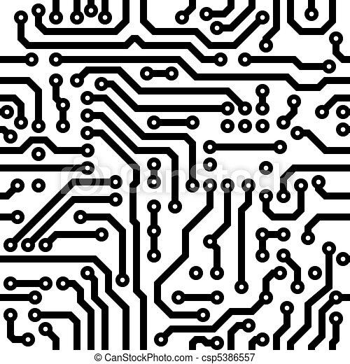Seamless texture - circuit board - csp5386557