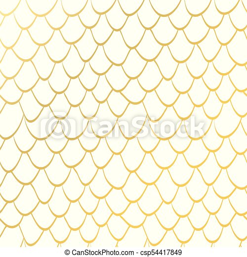 Seamless Texture Scales Gold Glitter Mermaid Tail Seamless Pattern Tillable Background For Girl Fabric Textile Design Wrapping Paper Swimwear Or