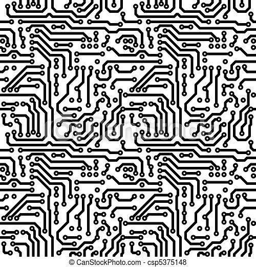 Seamless texture - theme electrical - csp5375148