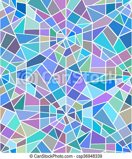 seamless texture with a broken stained glass vector