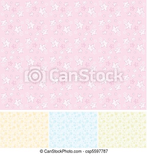 seamless textures with stars - csp5597787