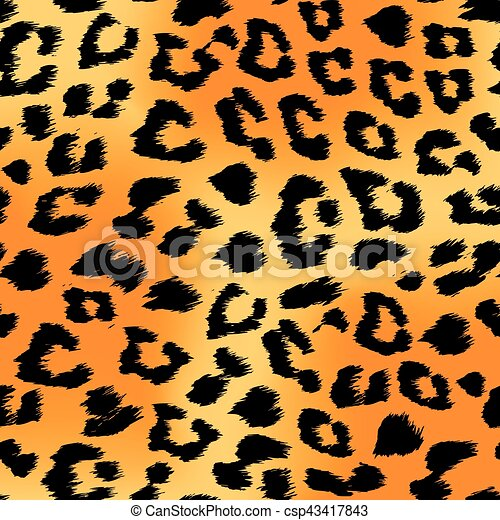 Seamless Tiger Print Pattern And Background Vector Illustration Simple Tiger Pattern