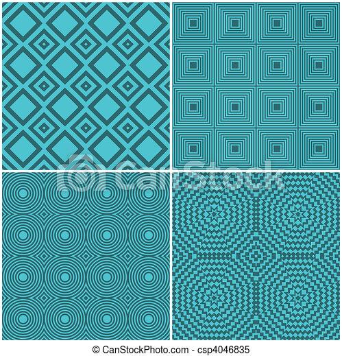 Seamless tile retro backgrounds - csp4046835