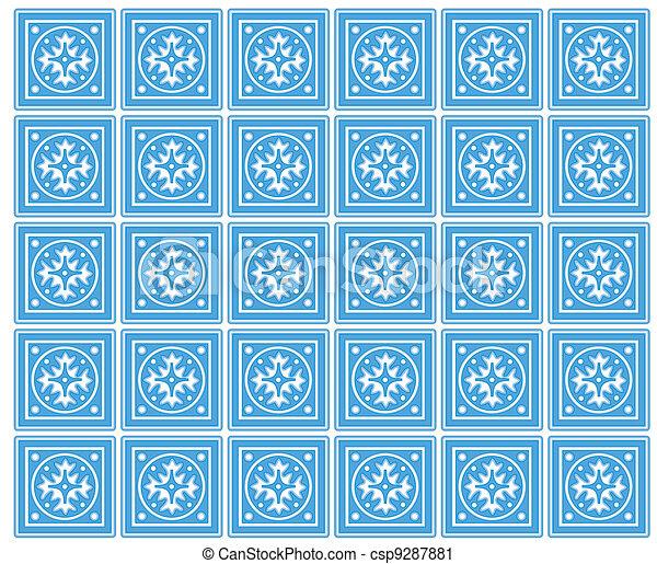 Seamless Tiles, Mexican Ceramic - csp9287881