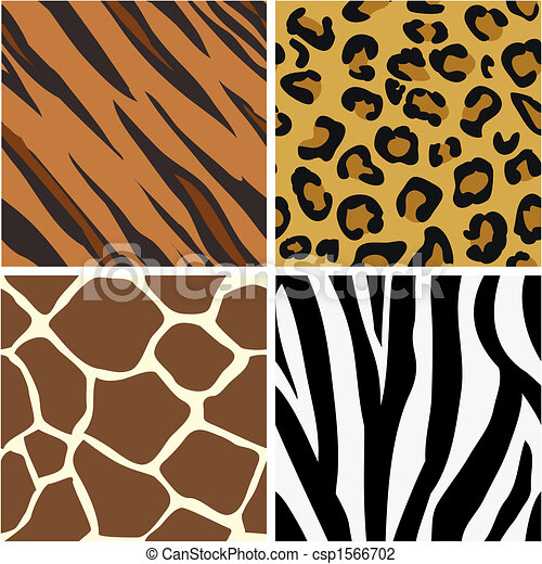 Seamless tiling animal print patterns - csp1566702