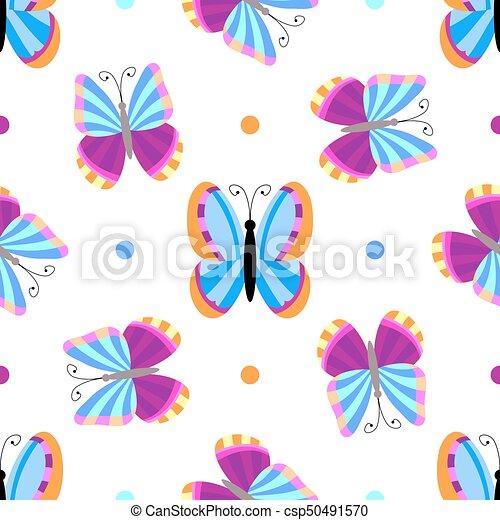 Seamless tiling butterfly texture - csp50491570
