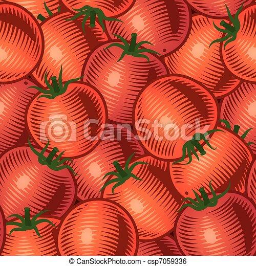 Seamless tomato background - csp7059336
