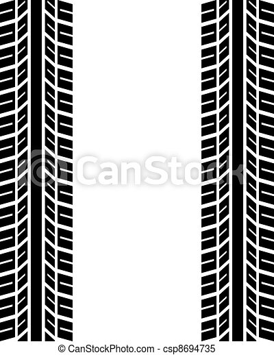 seamless trace of the tyres - csp8694735