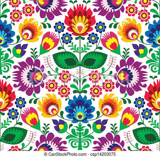 Seamless traditional floral pattern - csp14203075