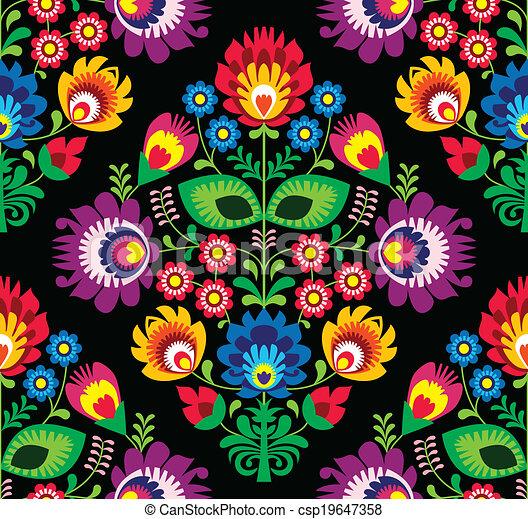 Seamless traditional Polish pattern - csp19647358
