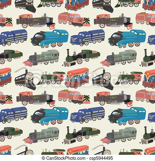 seamless train pattern - csp5944495