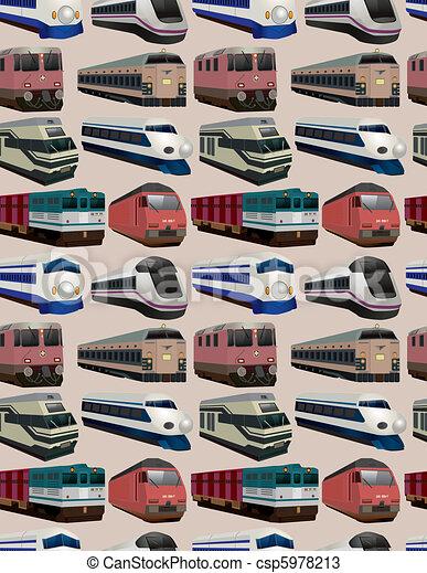 seamless train pattern - csp5978213
