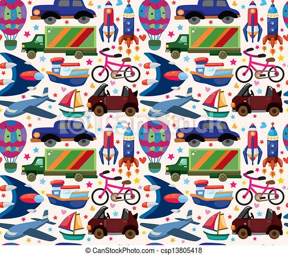 seamless transport pattern - csp13805418
