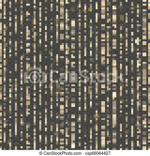 Seamless unique gold rain bokeh. Sparkling lines of shimmering lights. Glitter threads. Holiday garland lights or fashion strass drops for carnival, Christmas, New Year decoration. EPS 10 vector file - csp66064427