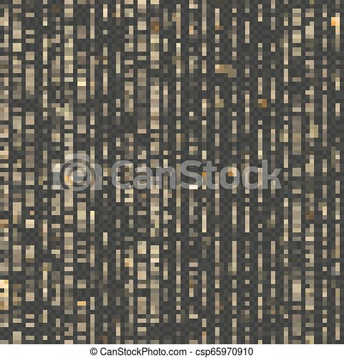 Seamless unique gold rain bokeh. Sparkling lines of shimmering lights. Glitter threads. Holiday garland lights or fashion strass drops for carnival, Christmas, New Year decoration. EPS 10 vector file - csp65970910