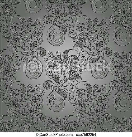 seamless, vecteur, fond, monochrome - csp7562254