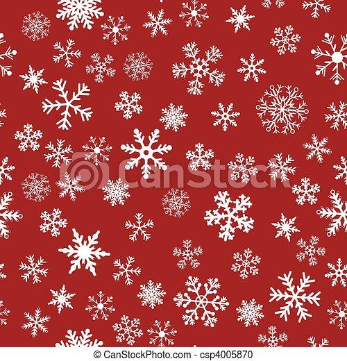 seamless, vecteur, neige, fond, rouges - csp4005870