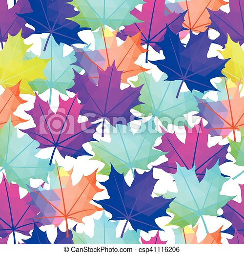 Seamless Vector Autumnal Leaves Pattern Maple Leaf Abstract Awesome Maple Leaf Pattern