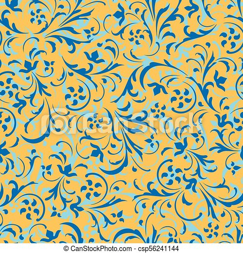 Seamless vector background. Baroque pattern. - csp56241144