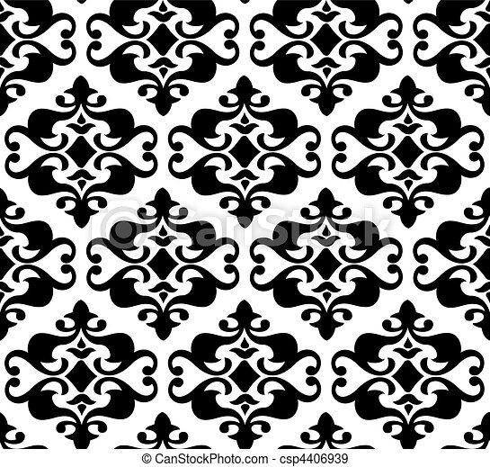 Seamless vector background, wallpaper illustration - csp4406939