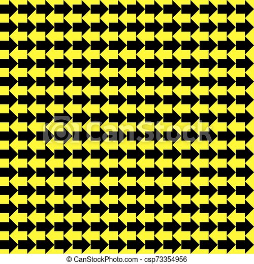 Seamless Vector Black Yellow Arrows Pattern Texture Seamless