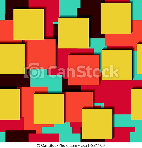 Seamless Vector Colorful Bright Pattern Paper Stickers Five Colors Lying On Each Other