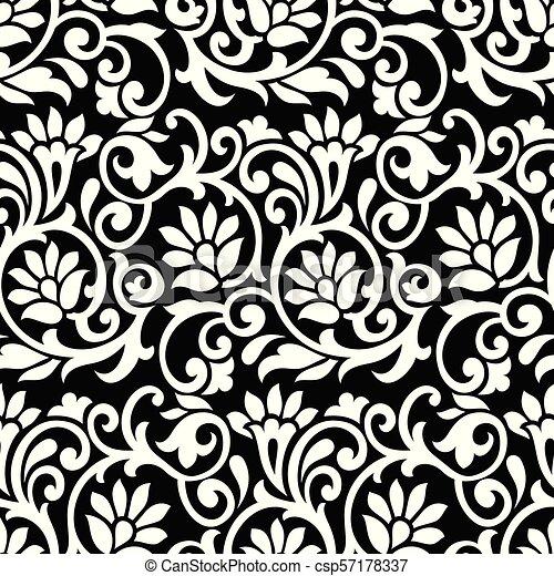 Seamless vector floral wallpaper - csp57178337