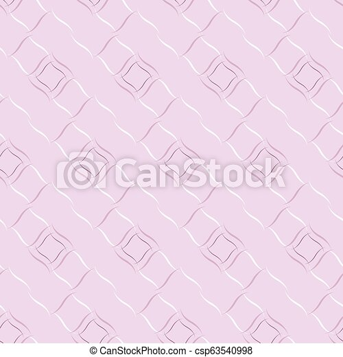 Seamless vector geometric pattern based on Arabic ornament in pastel baby-pink colors on light background - csp63540998