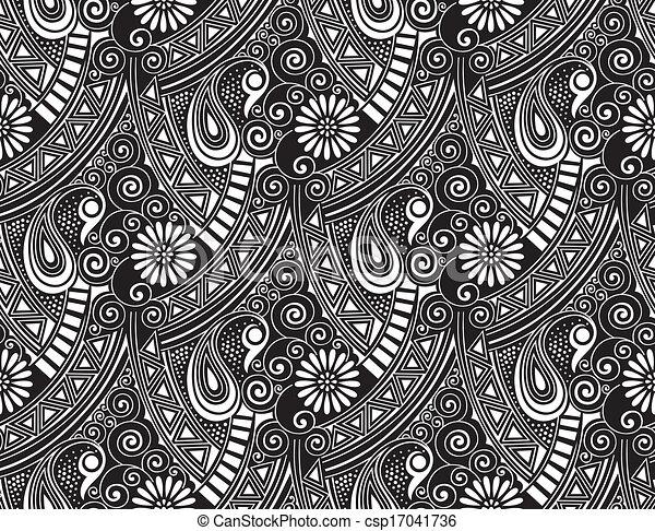 Seamless vector paisley wallpaper - csp17041736