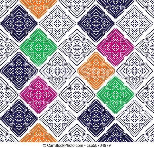 Seamless vector paisley wallpaper - csp58704979