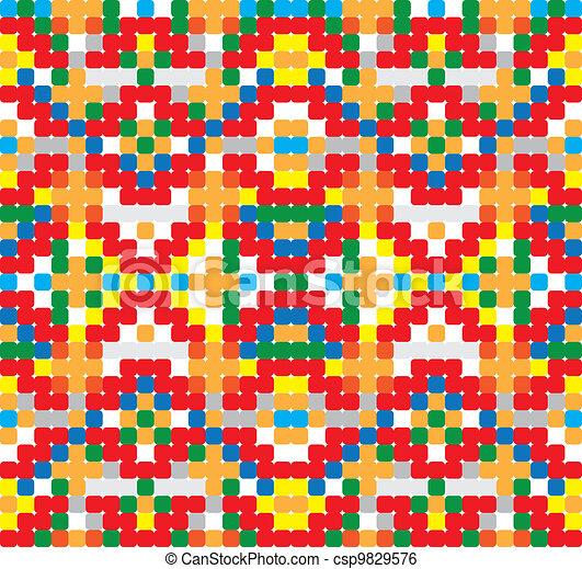 Seamless vector pattern - cross-stitch style - csp9829576