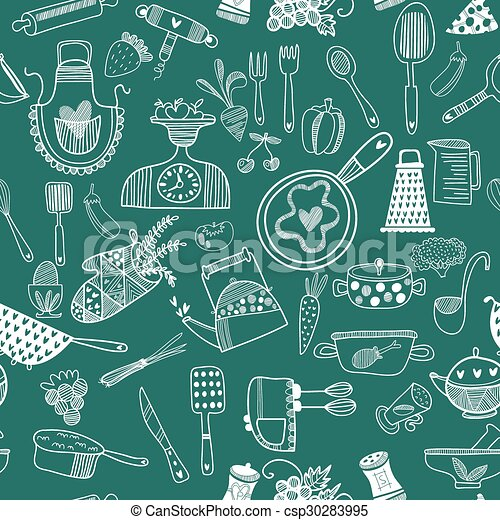 seamless vector pattern kitchen food background cartoon backgroundkitchen food background cartoon background can be used for wallpaper,