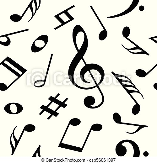 seamless vector pattern with music notes seamless pattern eps rh canstockphoto com Music Notes Music Notes Graphics
