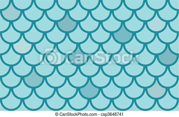 Seamless  vector texture with fish scales - csp3648741