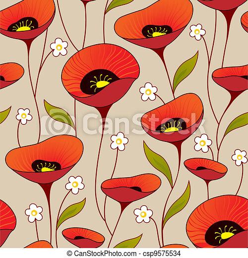 Seamless vintage background - csp9575534