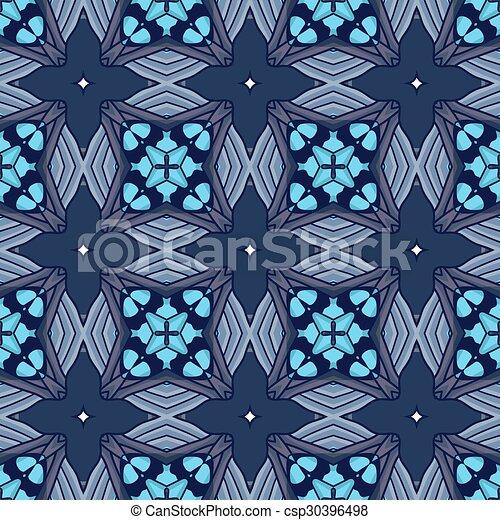 Seamless vintage flower pattern - csp30396498