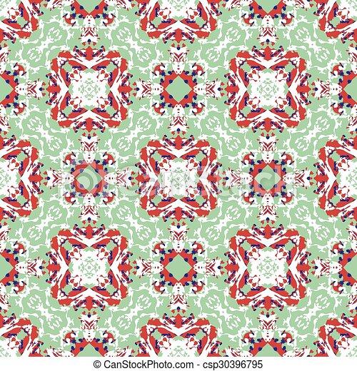Seamless vintage flower pattern - csp30396795