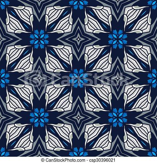 Seamless vintage flower pattern - csp30396021