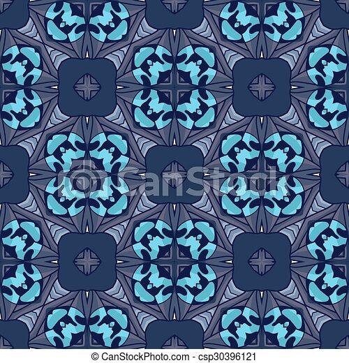 Seamless vintage flower pattern - csp30396121