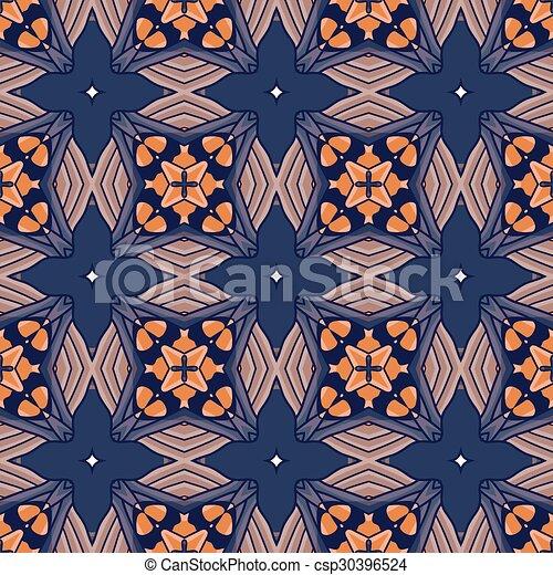 Seamless vintage flower pattern - csp30396524