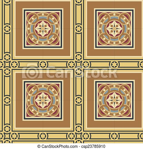 Seamless vintage ornamental tile se