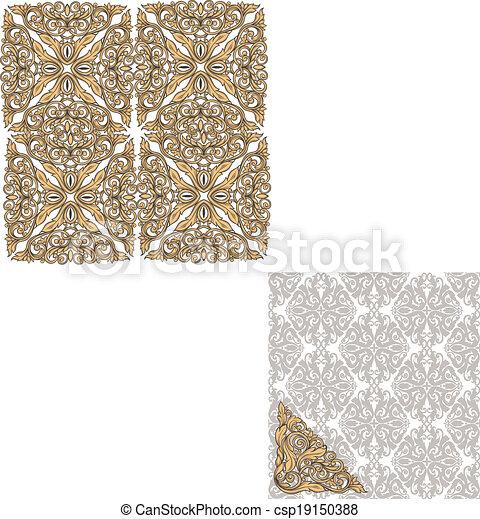 Seamless vintage pattern - csp19150388