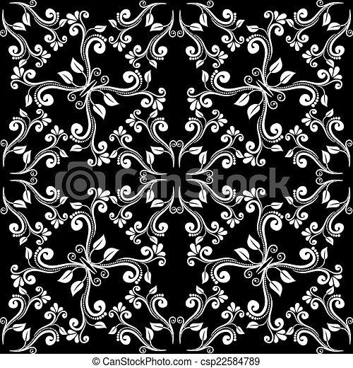 Seamless vintage pattern - csp22584789