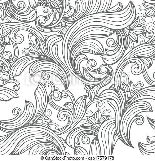 seamless vintage pattern  - csp17579178
