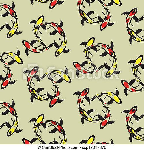 Seamless Wallpaper Carp Koi