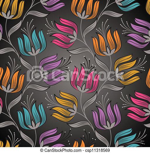 Seamless Wallpaper Of Lotus Flower Seamless Wallpaper Of Fancy