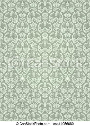 Seamless wallpaper pattern, vector - csp14056080