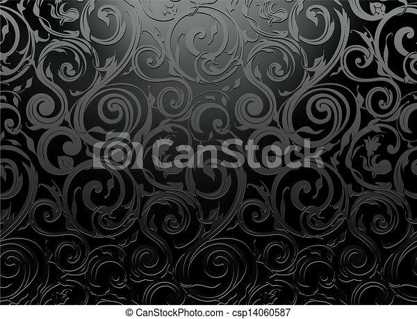 Seamless wallpaper pattern, vector - csp14060587
