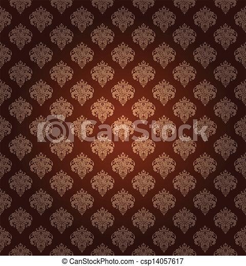 Seamless wallpaper pattern, vector - csp14057617